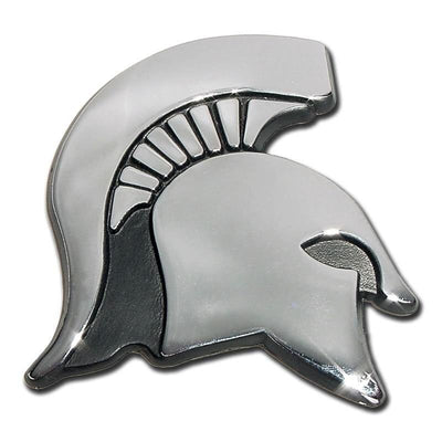 Michigan State University Spartan Chrome Car Emblem