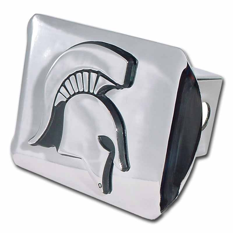 Michigan State University Spartan Shiny Chrome Hitch Cover