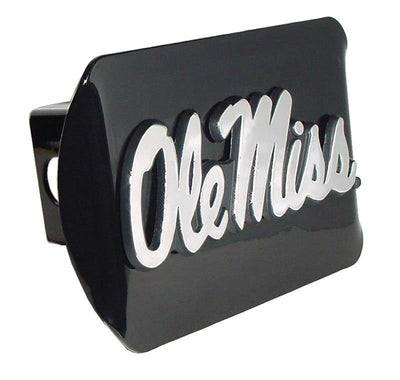 Ole Miss University of Mississippi Black Hitch Cover