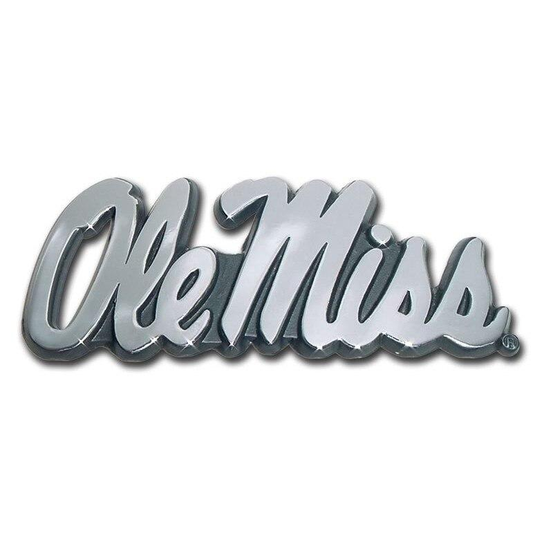 Ole Miss University of Mississippi Chrome Car Emblem