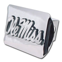Ole Miss University of Mississippi Shiny Chrome Hitch Cover - Chrome Car Emblems | Trailer Hitch Covers/Collegiate Car Emblems/Mississippi University - I AmEricas Flags