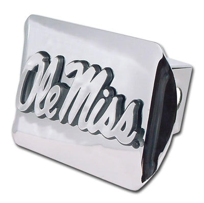 Ole Miss University of Mississippi Shiny Chrome Hitch Cover