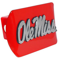 Ole Miss University of Mississippi Red Hitch Cover