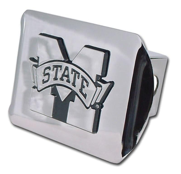 Mississippi State University Shiny Chrome Hitch Cover