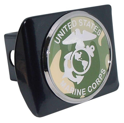 Marines Camouflage Seal Black Hitch Cover