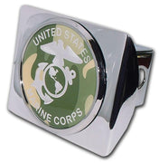 Marines Camouflage Seal Chrome Hitch Cover