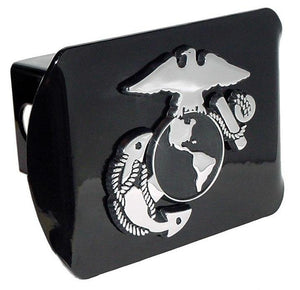 Marines Insignia Black Hitch Cover