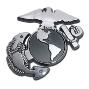 Marines Insignia Chrome Car Emblem
