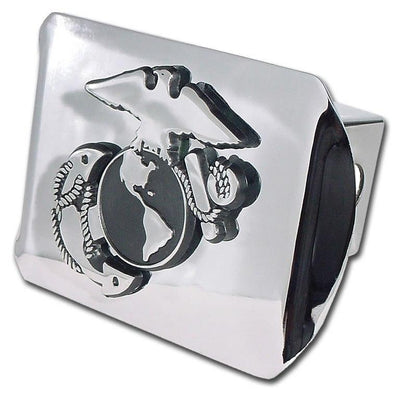 Marines Insignia Chrome Hitch Cover