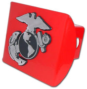 Marines Insignia Red Hitch Cover