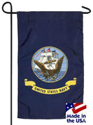 Navy Nylon Garden Flag Made in the USA