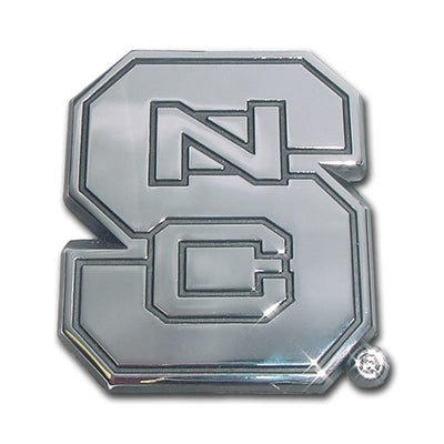North Carolina State University Chrome Car Emblem