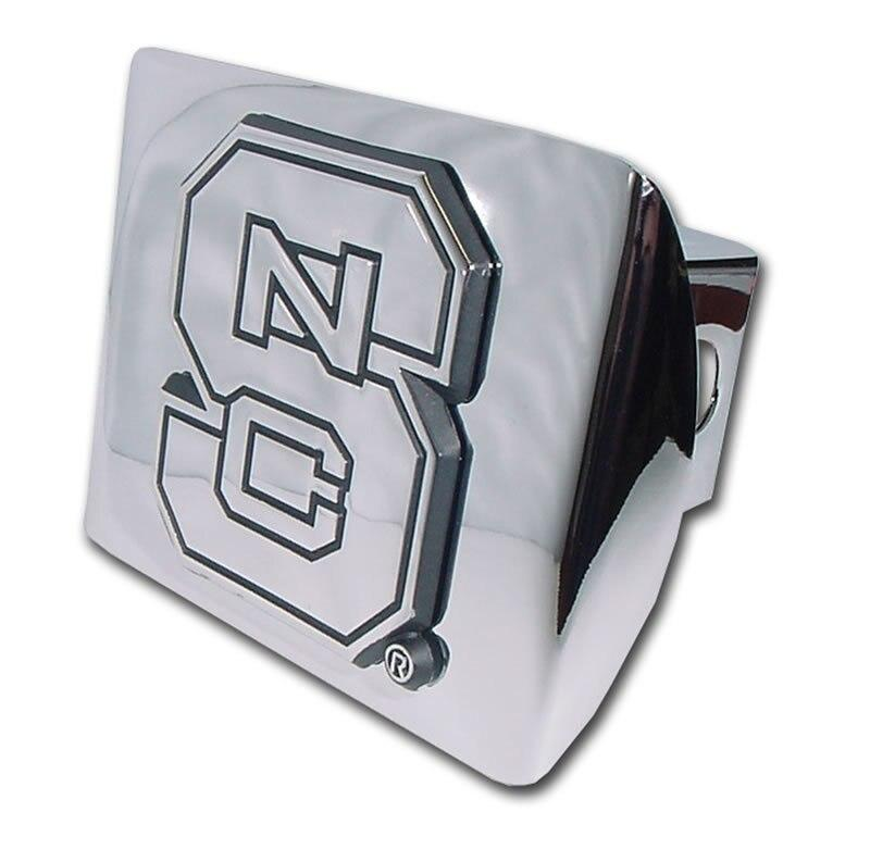 North Carolina State University Shiny Chrome Hitch Cover