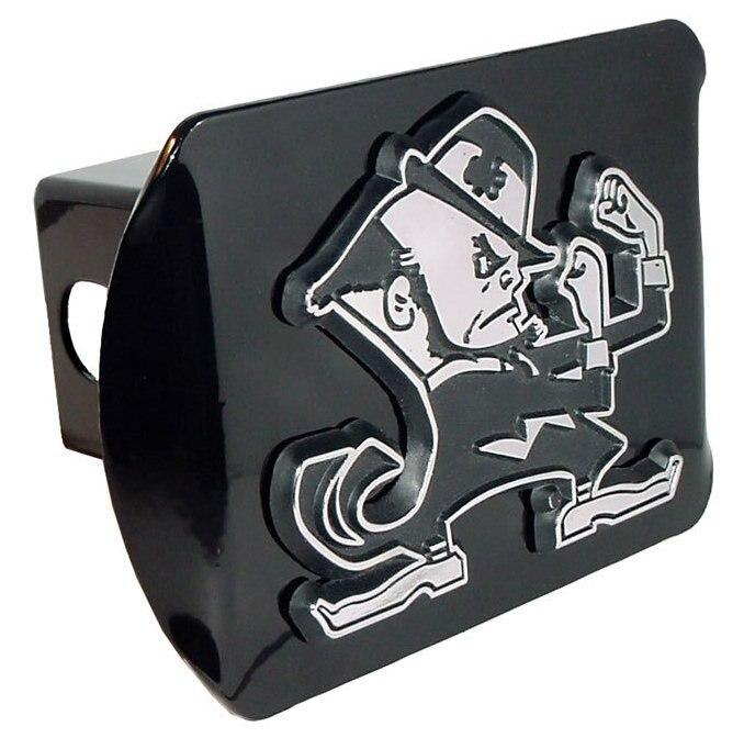 University of Notre Dame Leprechaun Black Hitch Cover