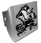 University of Notre Dame Leprechaun Brushed Chrome Hitch Cover