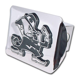 University of Notre Dame Leprechaun Shiny Chrome Hitch Cover
