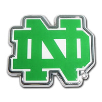 University of Notre Dame Chrome and Color Car Emblem