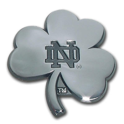 University of Notre Dame Shamrock Chrome Car Emblem