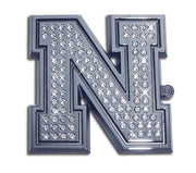 University of Nebraska Iron N Crystal Chrome Car Emblem