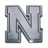University of Nebraska Iron N Chrome Car Emblem - Chrome Car Emblems | Trailer Hitch Covers/Collegiate Car Emblems/Nebraska University - I AmEricas Flags