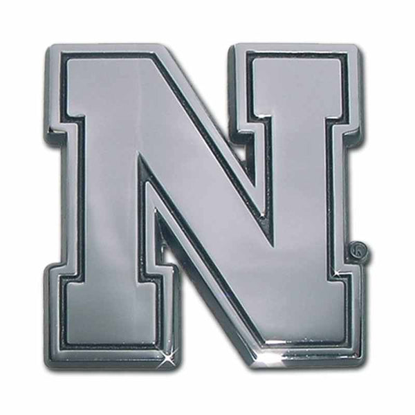 University of Nebraska Iron N Chrome Car Emblem