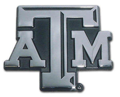 Texas A&M University ATM Chrome Car Emblem