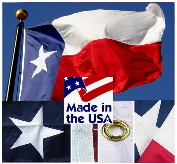 Sewn Nylon Texas Flags - Texas Flags - I AmEricas Flags