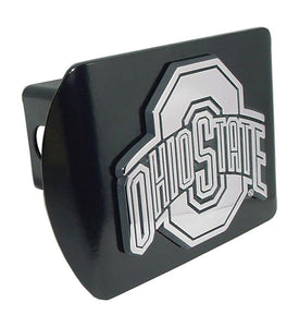 Ohio State University Black Hitch Cover - Chrome Car Emblems | Trailer Hitch Covers/Collegiate Car Emblems/Ohio State University - I AmEricas Flags