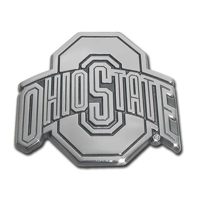 Ohio State University Chrome Car Emblem