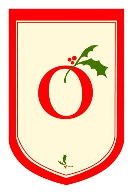 Holiday Monogram O House Flag