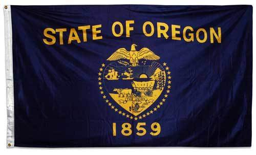 Oregon Double Sided 3x5 State Flag