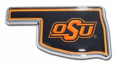Oklahoma State University State Shaped Color Car Emblem