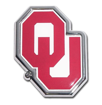 University of Oklahoma Chrome and Color Car Emblem