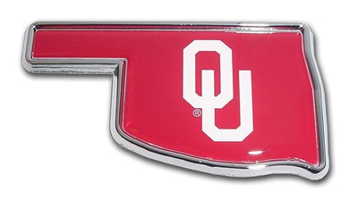 University of Oklahoma State Shaped Color Car Emblem