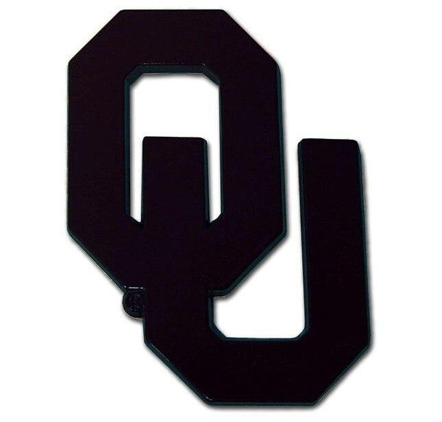 University of Oklahoma Black OU Car Emblem