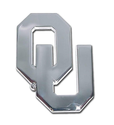 University of Oklahoma OU Chrome Car Emblem