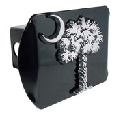 South Carolina Palmetto Tree Black Hitch Cover