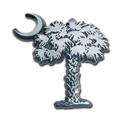 South Carolina Palmetto Tree & Crescent Chrome Car Emblem