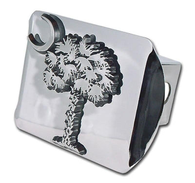 South Carolina Palmetto Tree Chrome Hitch Cover