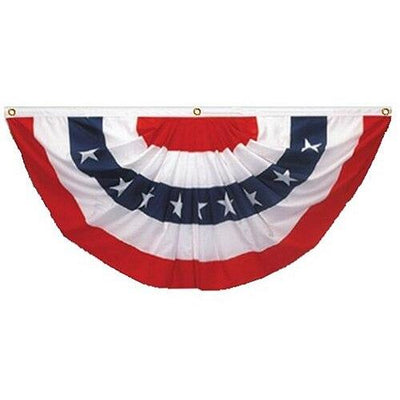 2 Ply Polyester Pleated Fan Bunting 5x10
