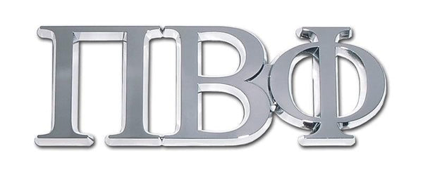Pi Beta Phi Sorority Chrome Car Emblem