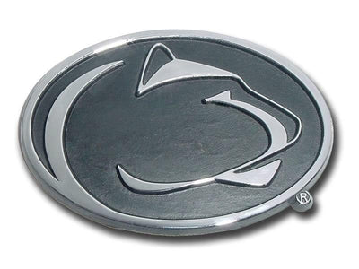 Penn State University Chrome Car Emblem Black