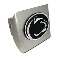Penn State University Brushed Chrome Hitch Cover