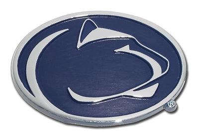 Penn State University Chrome Car Emblem Navy