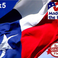 PolyMax 2-Ply Polyester 3x5 Texas Flag with Grommets