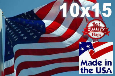 PolyMax Two-Ply Polyester 10x15 American Flag