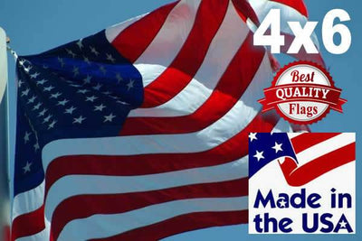 PolyMax 2-Ply Polyester 4x6 American Flag