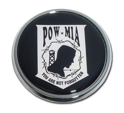 POW/MIA Seal Chrome with Color Car Emblem