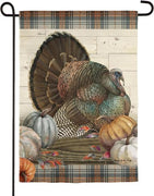 Pumpkin Time Turkey Suede Reflections Garden Flag