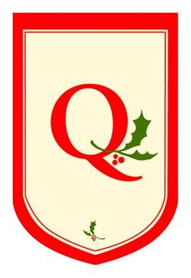 Holiday Monogram Q House Flag